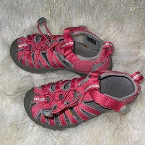 Keen   pink waterproof sandals   kids size 13